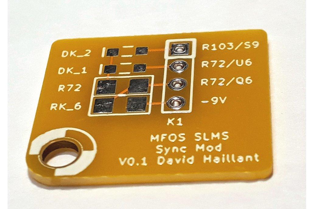 Sync Mod Board for the MFOS Sound Lab Mini-Synth 1
