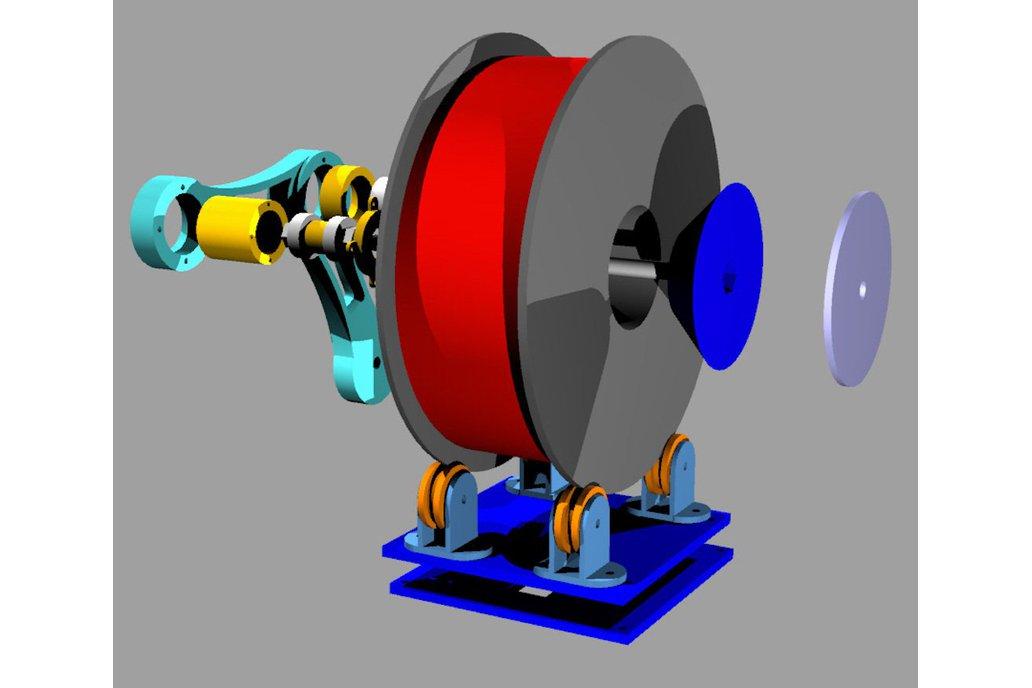 Arduino controlled 3D filament dispenser 7