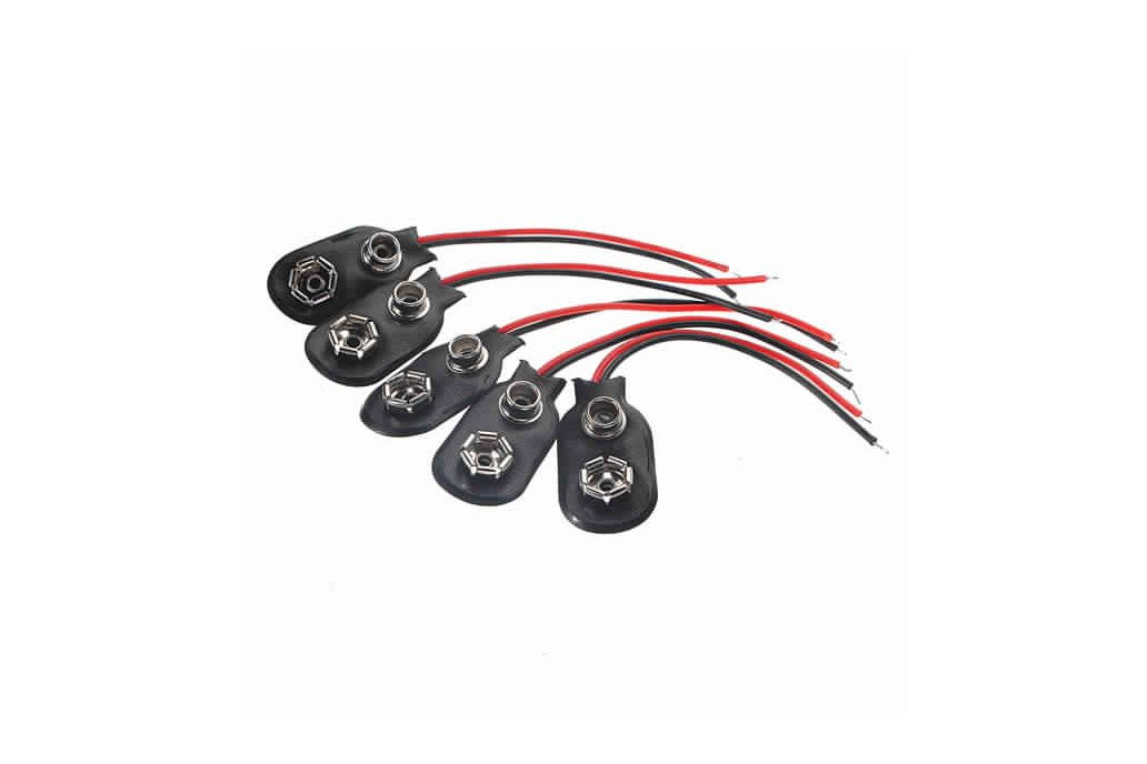 9Volt Battery Clip Connectors 9V 6