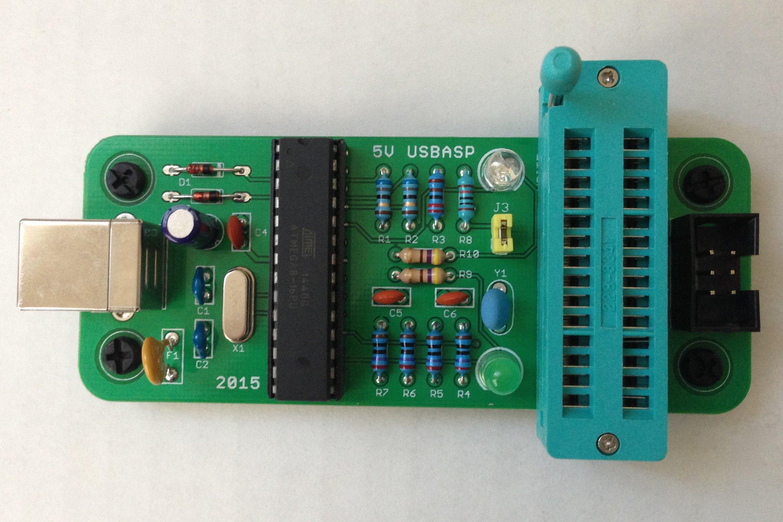 Build Your Own Usbasp From Ptudor On Tindie Atmel Usb Programmer Circuit Zif Socket Atmega8 2