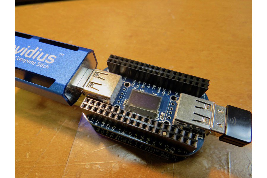 OLED with 2/4-port USB HUB cape for PocketBeagle
