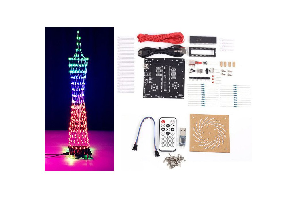 DIY Kit Colorful LED Tower Display(12320) 4