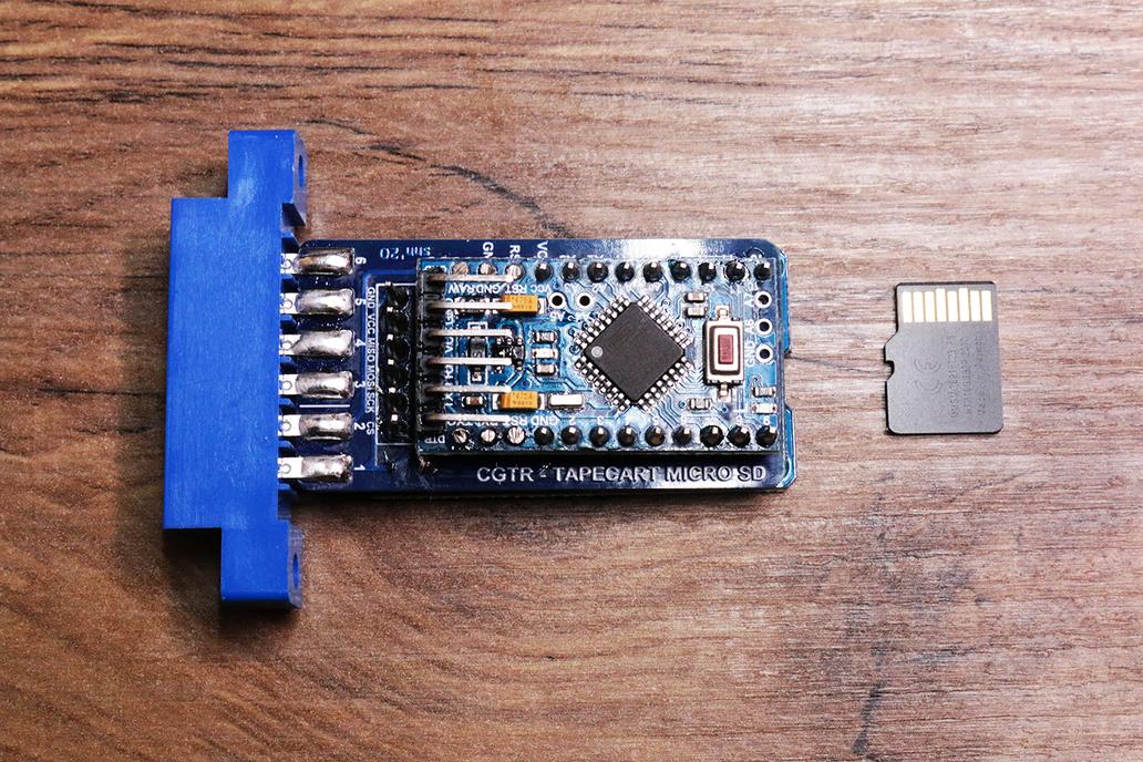 C64 TapeCartSD with microSD preloaded wth software 1