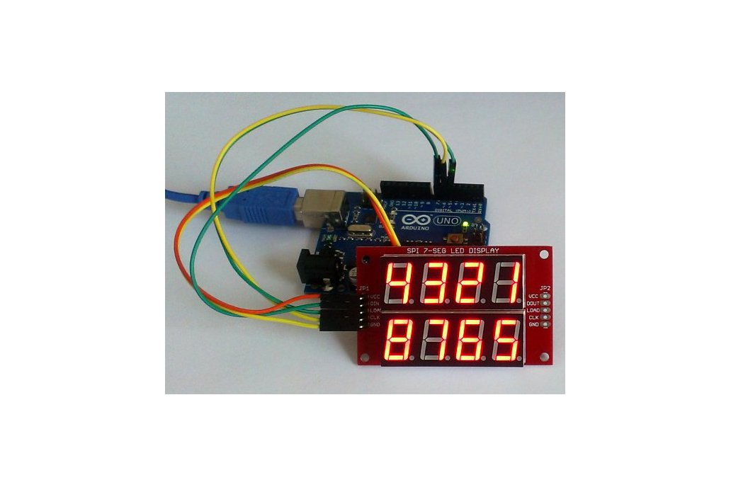 Double row 4-digit seven segment LED display-RED 1