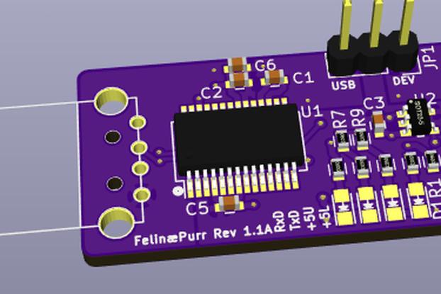 FelinæPurr - Rev 1.1 - USB A