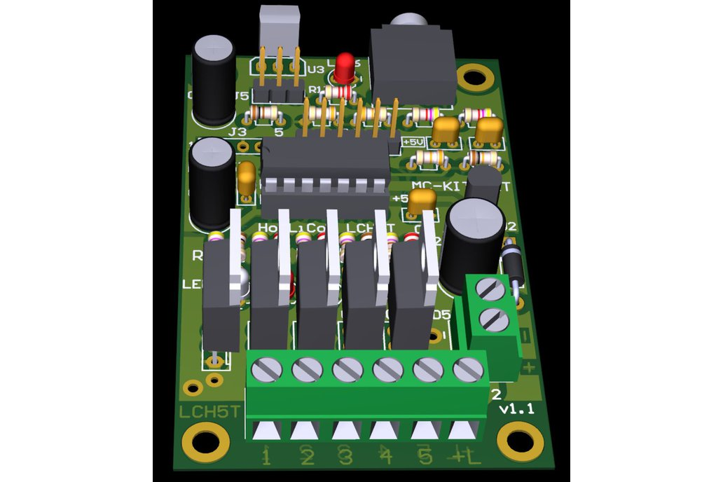 Color Organ 5 Channel PWM Controller LCH5T 7