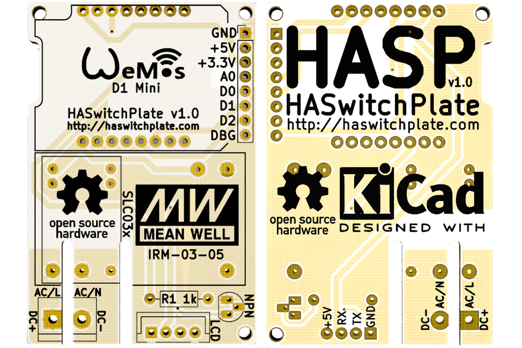 HA SwitchPlate (HASP) PCB