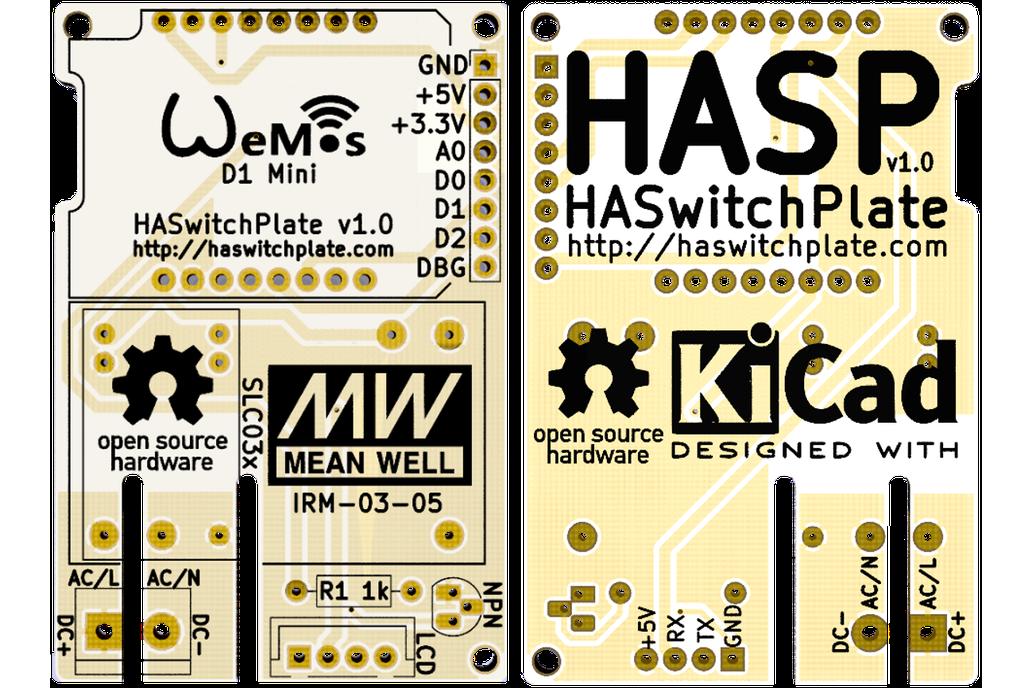 HA SwitchPlate (HASP) PCB 1