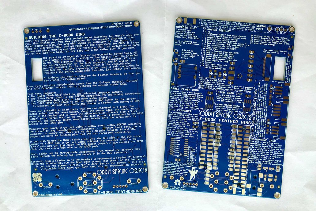 The E-Book Wing PCB (Bare PCB) 1