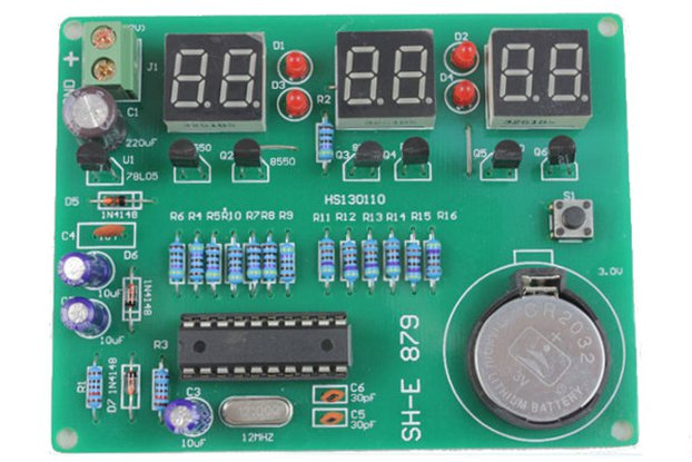 DIY 6 Digital LED Electronic Clock Kit