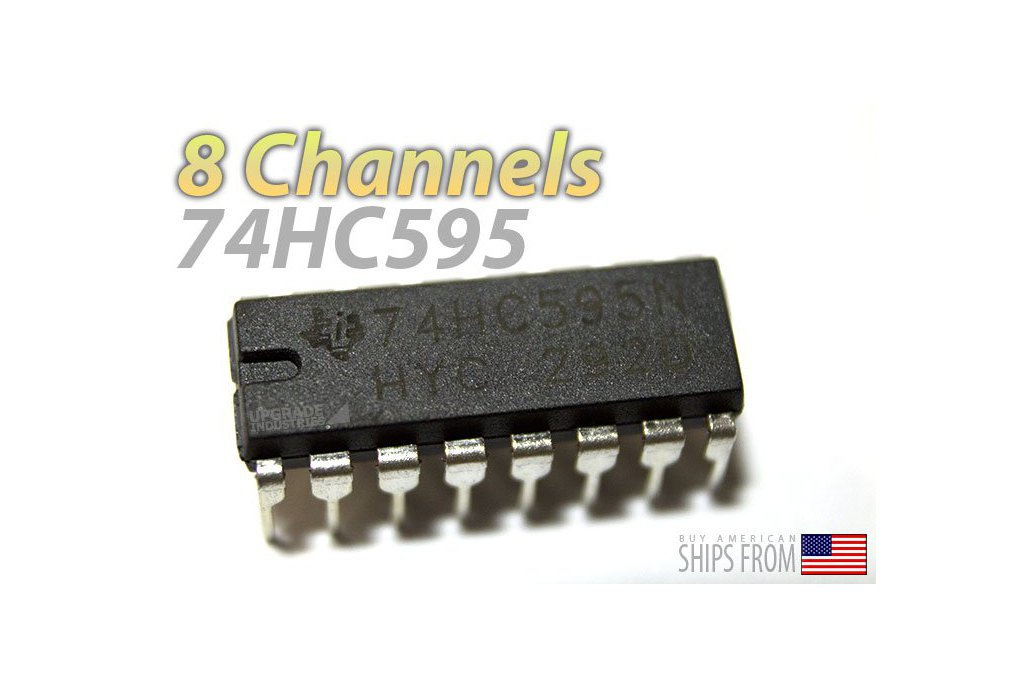 [5 pack] 74HC595 Shift Register (For LED Arrays and GPIO Expansion) 2