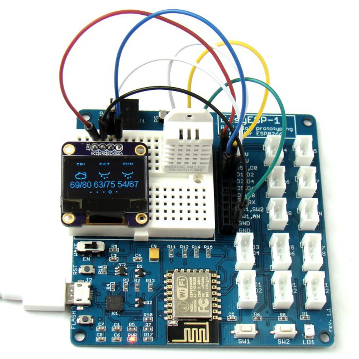 Easyesp 1 A Rapid Development Board For Esp8266 From Embedded Lab Project 42 Breadboarded Circuit On Tindie