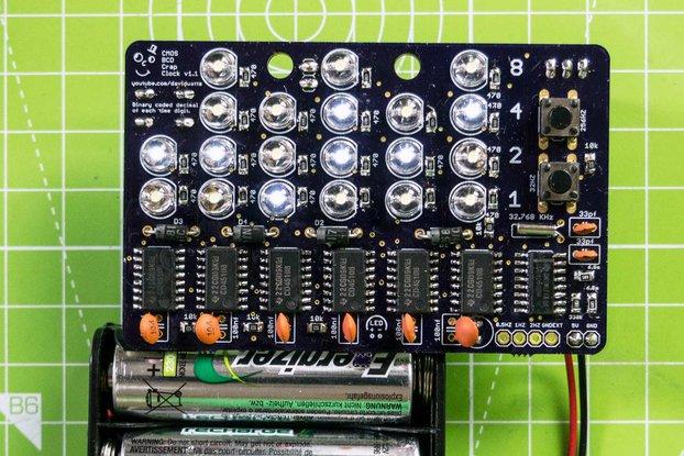 Binary Crap Clock Kit