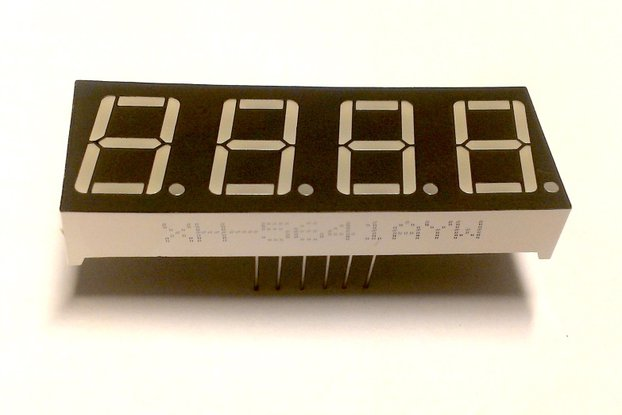 4 Digit Seven Segment LED Display (Common Cathode)