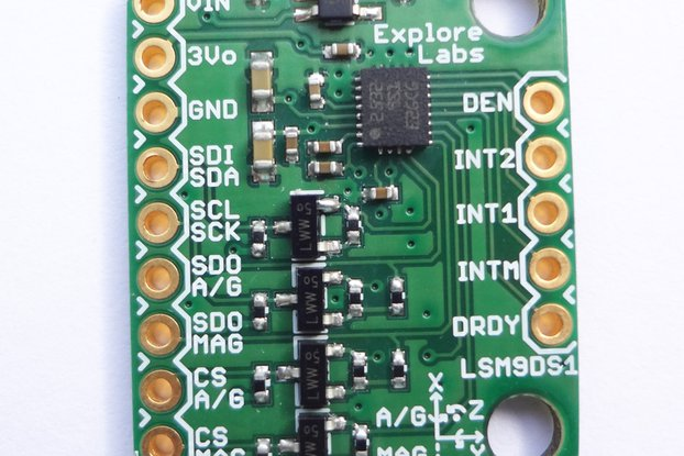 LSM9DS1 9 DOF Accelerometer + Gyro + Magneto Board