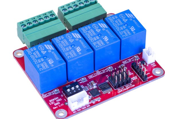 I2C 4-channel relay module