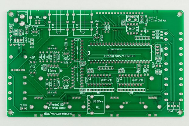 preenFM2 FM Synthesizer PCB + F405 MCU Board