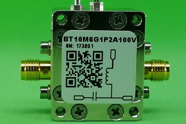 Bias Tee Broadband 10 MHz to 6 GHz Max. 1.2A 100V