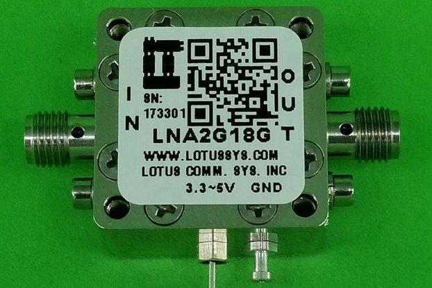 Amplifier LNA 1.4dB NF 2GHz to 18GHz 20dB Gain