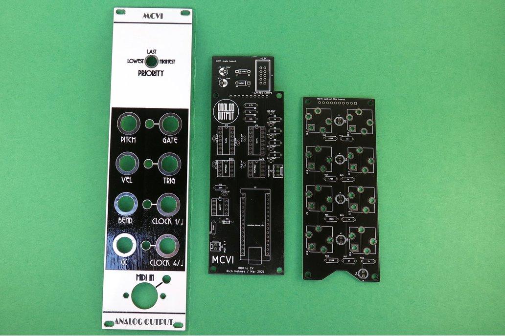 Analog Output MCVI MIDI to CV synth module 1