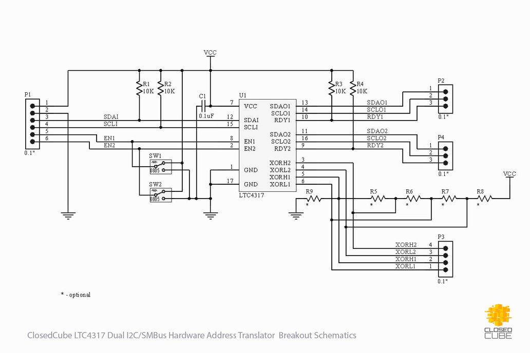 LTC4317 Dual I2C/SMBus Hardware Address Translator 5