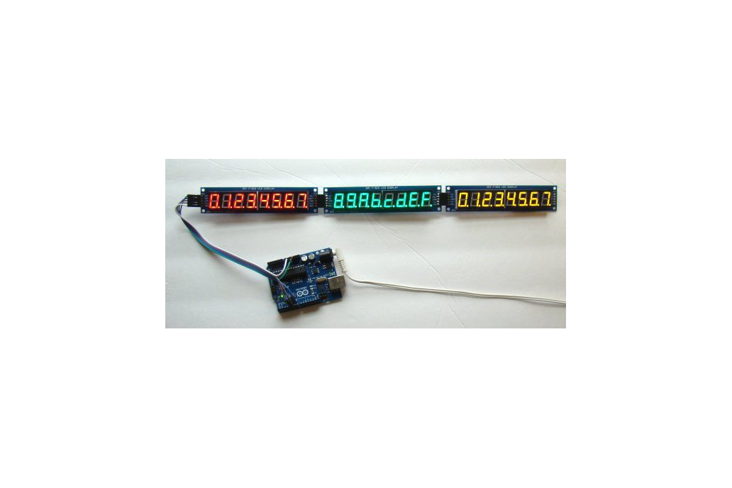 Serial 8-digit 7-segment LED display (Green) 3
