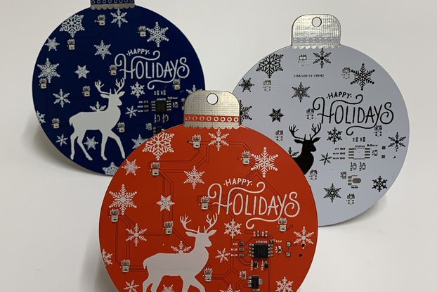 Holiday Ornament PCB - Perfect for the DIYer!