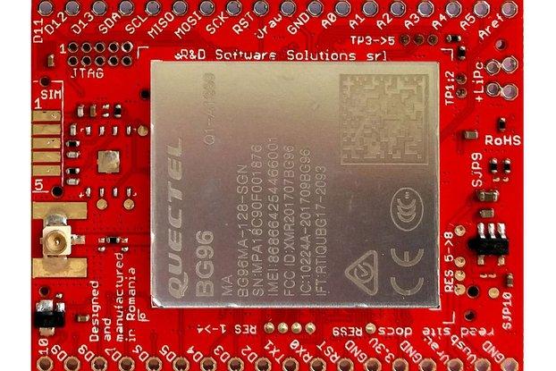 xyz-mIoT w. BG96 (ARM0 + CATM1 NBIOT 2G + GNSS)