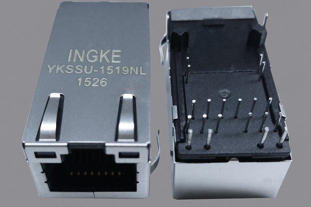 YKSSU-1519NL 2.5G PoE+ RJ45 Magjack Connectors