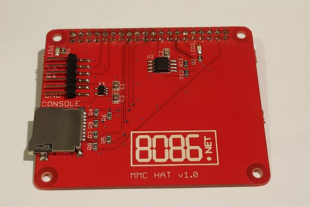 MMC (micro SD) HAT for the Raspberry Pi