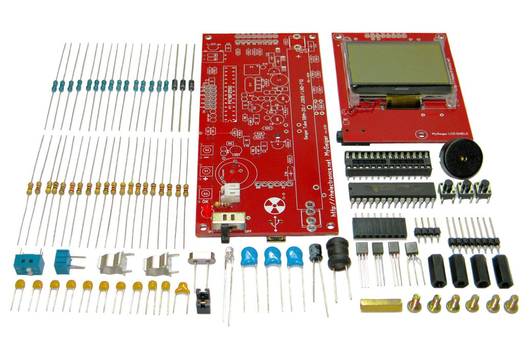 MyGeiger ver.2 DIY Geiger Counter Kit with USB LCD 1
