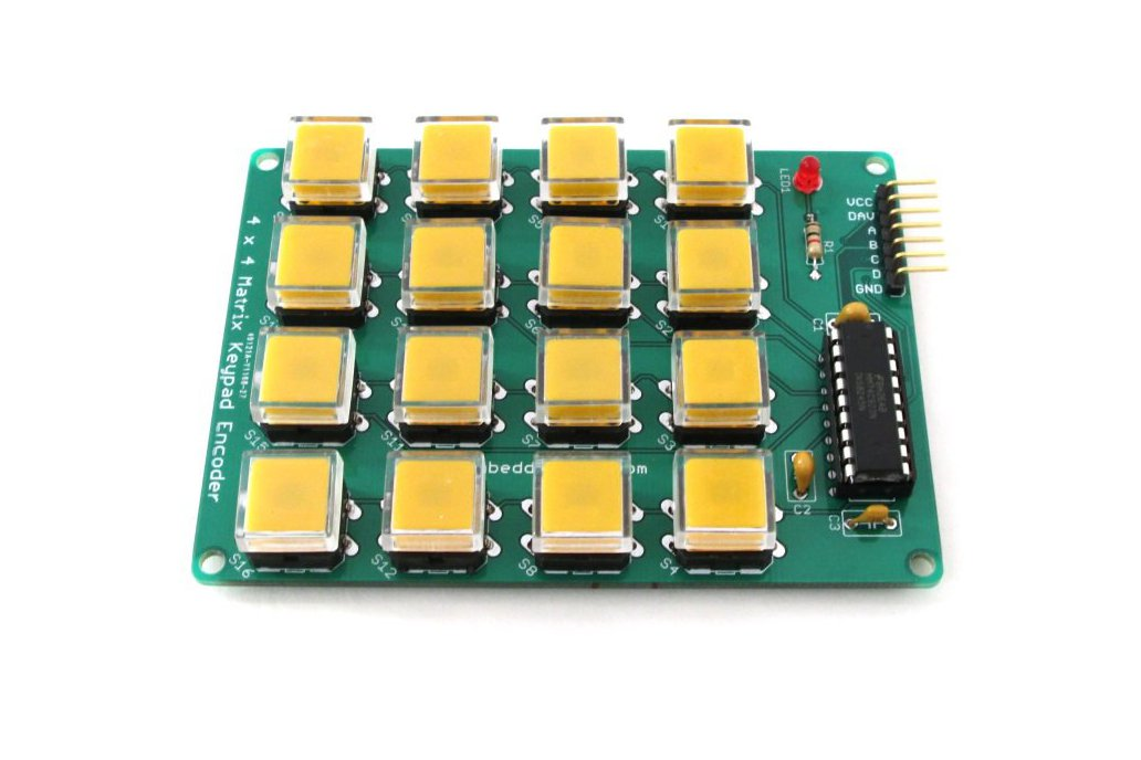 Encoded matrix keypad (16-switch) 3
