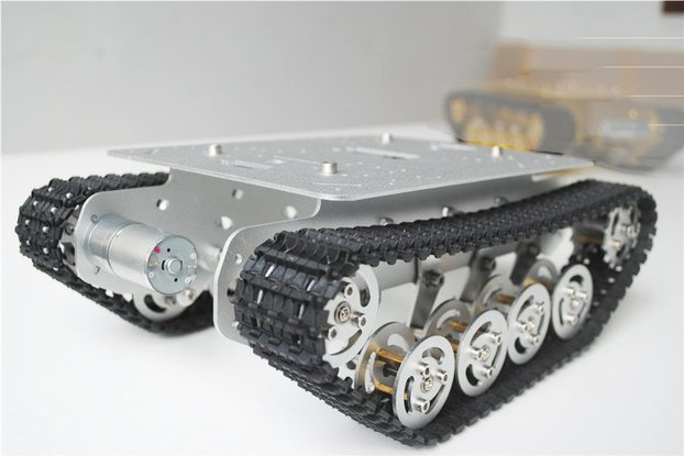 Metal Shock Absorption Robot Tracked Tank Car