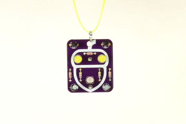 Acorn: Wearable Blinky-Board Soldering Skills Kit