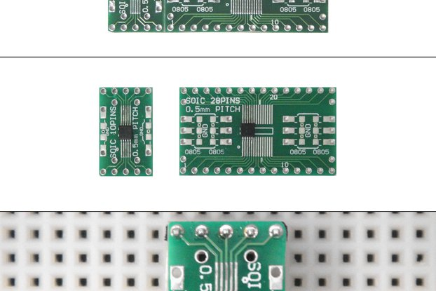 SchmartBoard|ez 0.5mm Pitch SOIC to DIP adapter