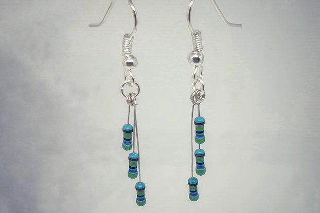 Resistor drop earrings