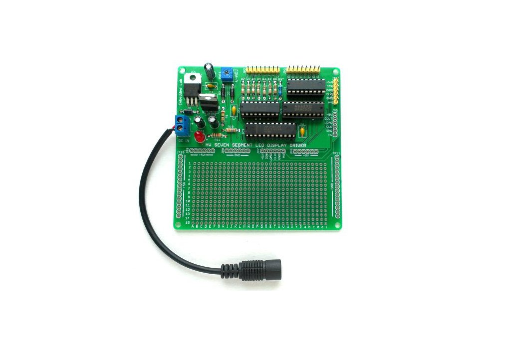 Serial driver for large seven segment LED displays 3