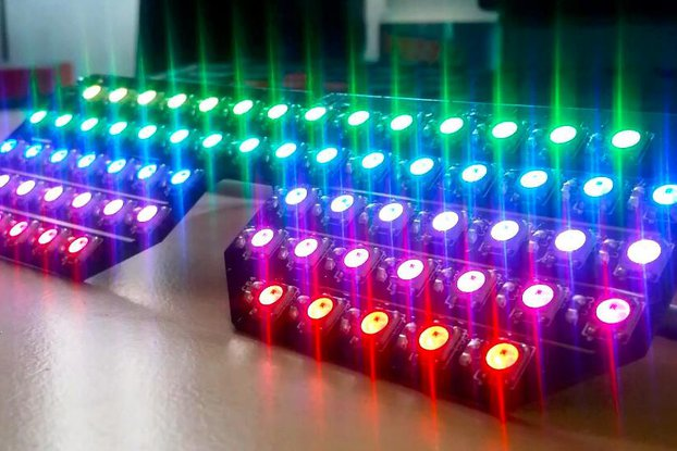 10 PCBs for DIY RGB Shades Controlled By Arduino