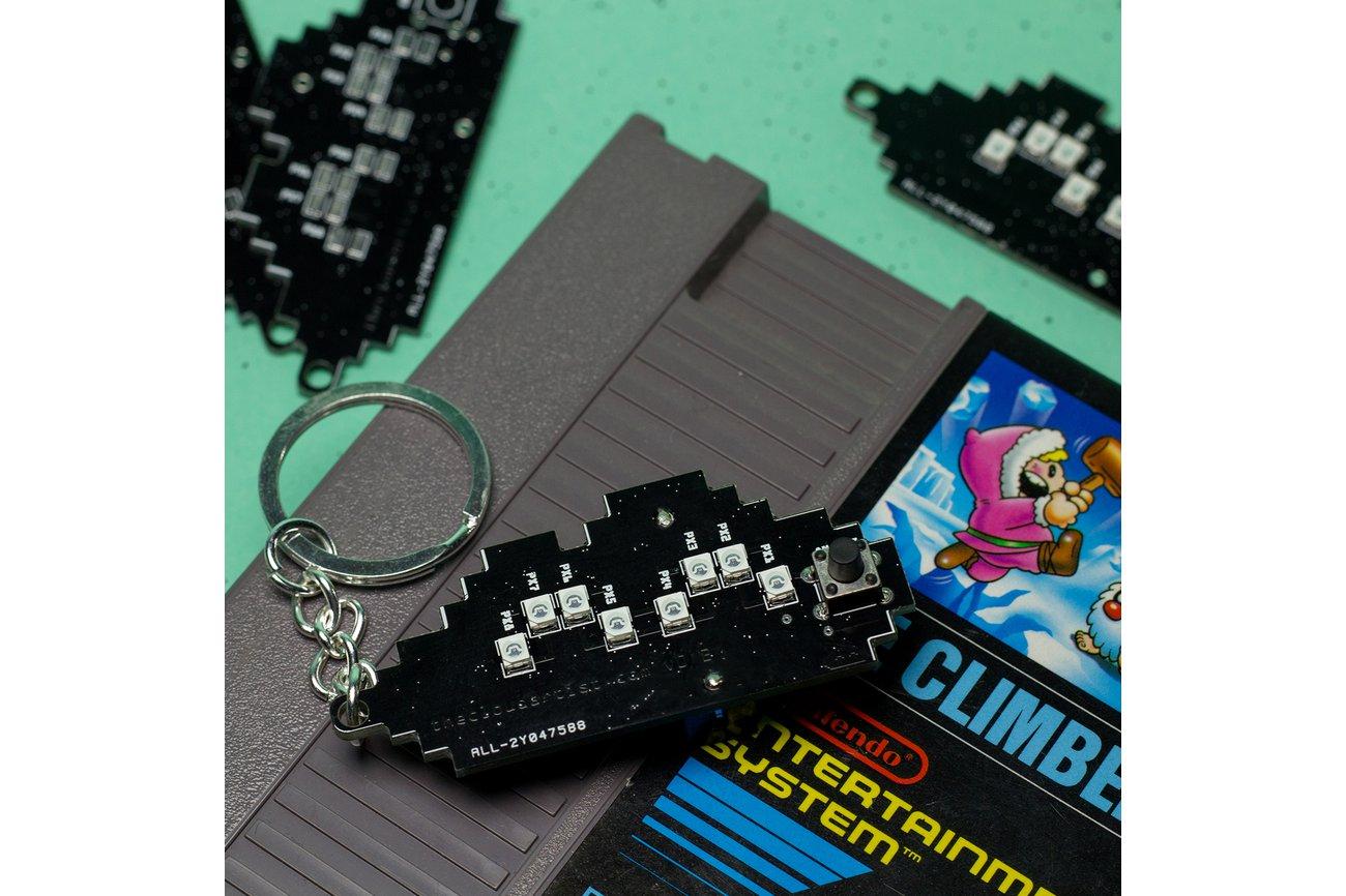 Happy Cloud PCB Keychain