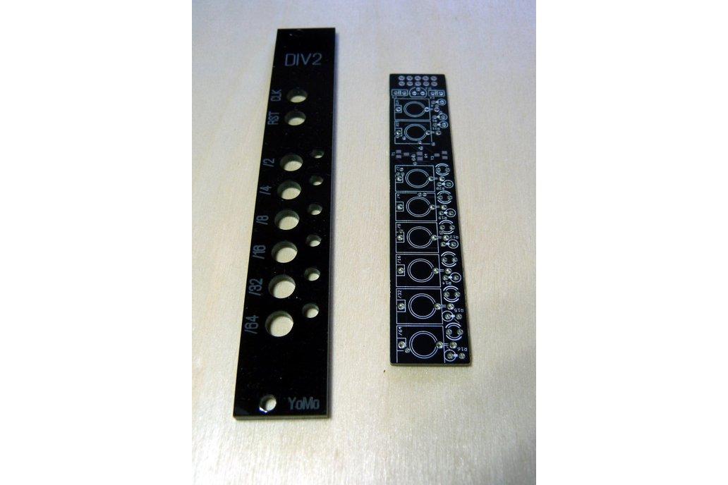 PCB/panel set for Eurorack clock divider 1