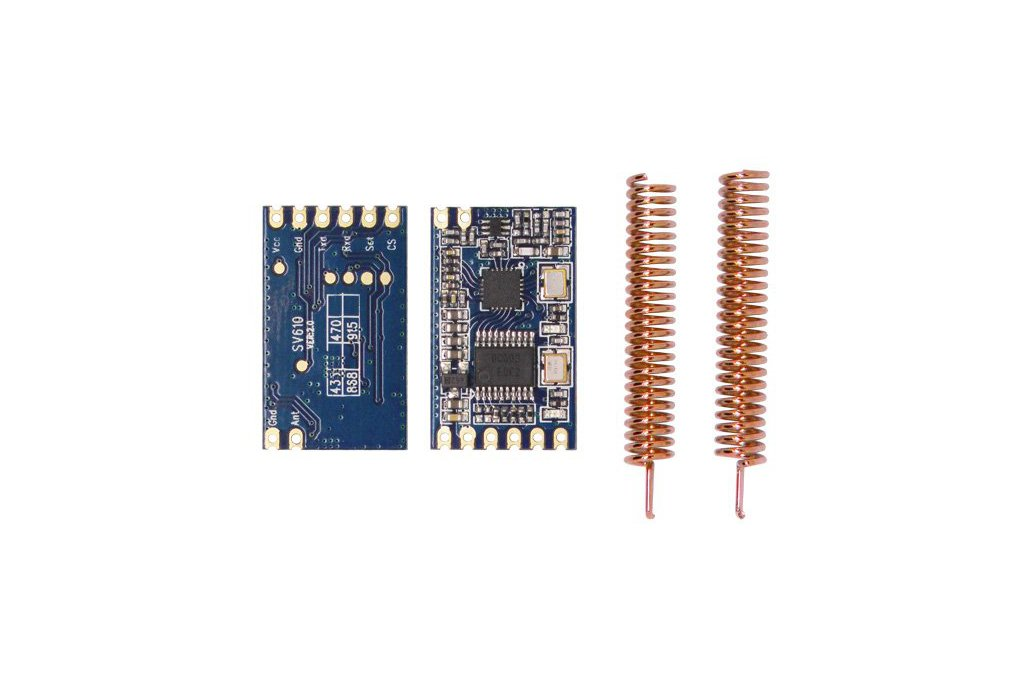 2pcs  SV610 100mW TTL interface Wireless Module 1