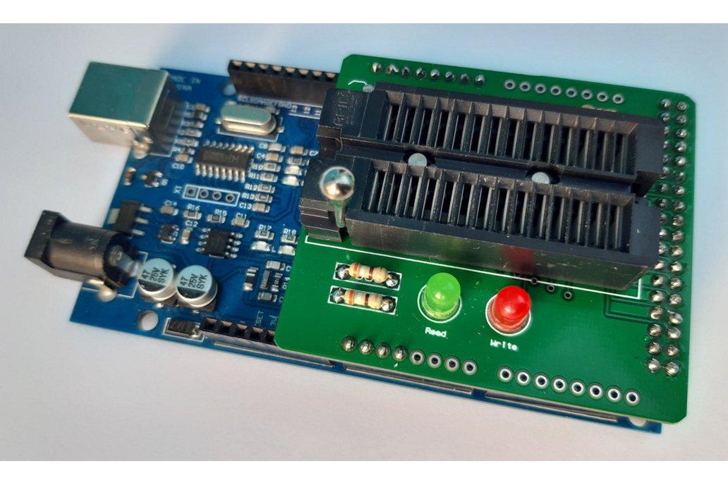 Simple EEPROM Programmer shield for Arduino Mega 1