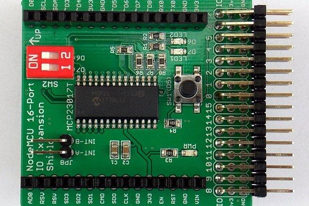 16-Port IO Expansion Shield for Wireless Dev Board