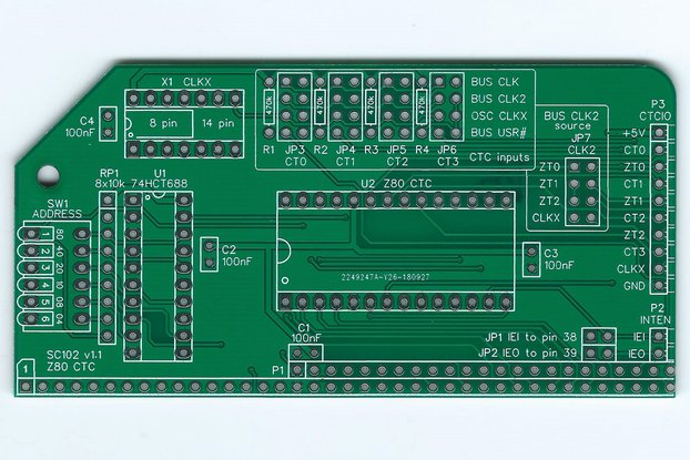 SC102 Z80 CTC Board for RC2014
