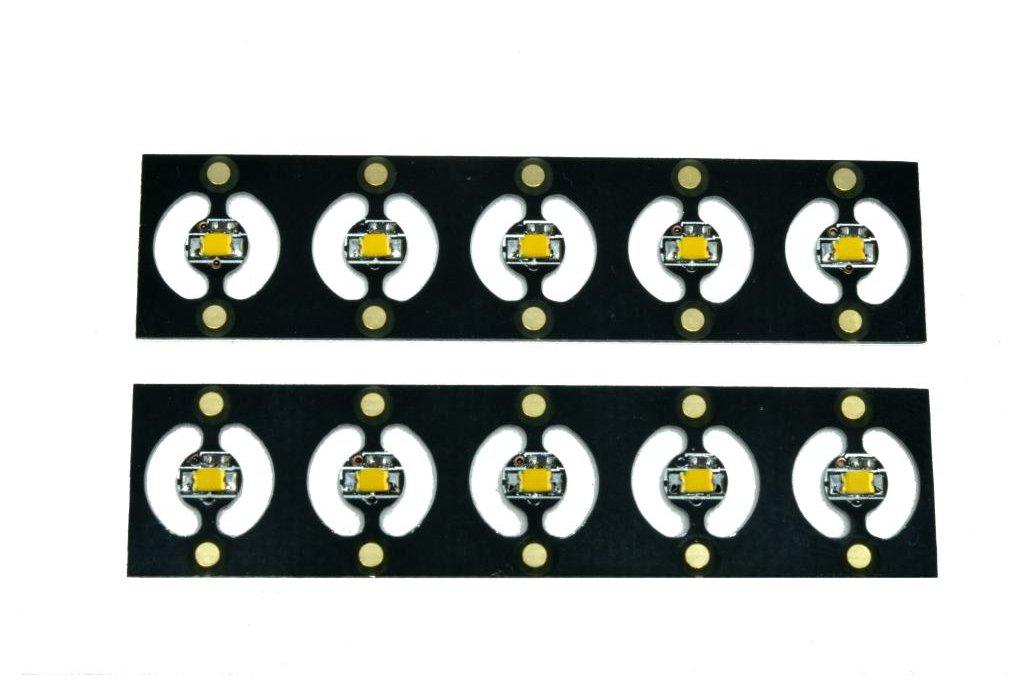 10 Warm White 4mm Pico LEDs on Panel 5