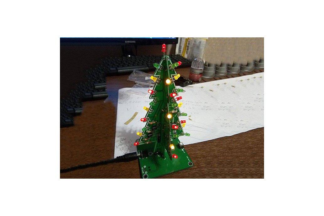 Led Christmas Tree Lights.Diy Flashing Led Christmas Tree Circuit Kit 7212