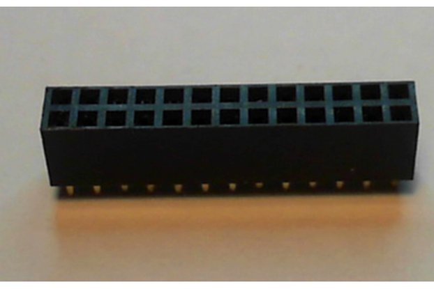 26-Way PCB Straight Female Header 2.54mm Pitch