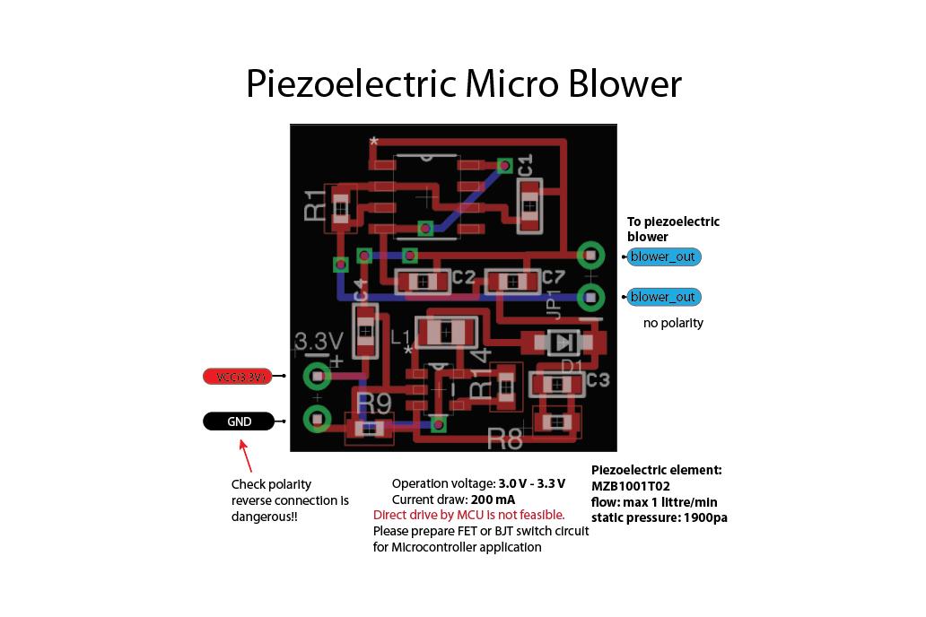 Piezoelectric micro AIR blower 3