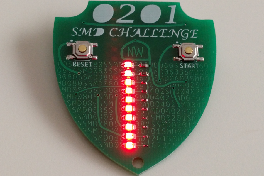 SMD 0201 Soldering Challenge