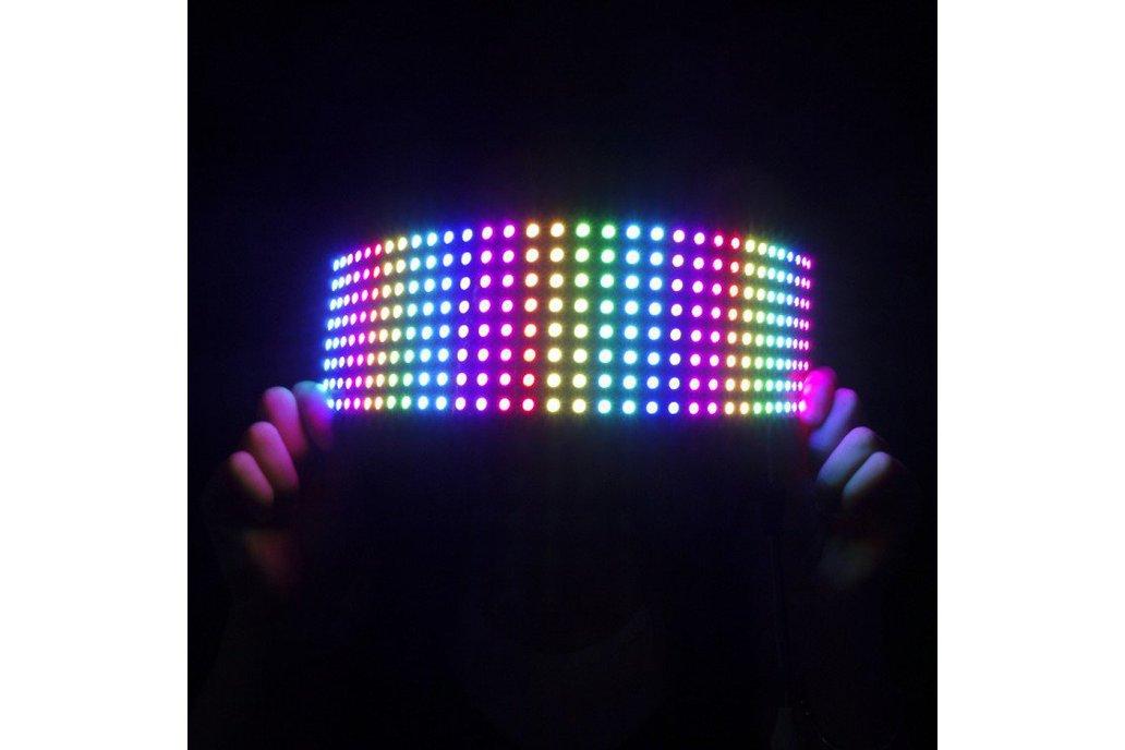 WS2812B flexible RGB LED matrix 8x32 1